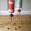 Pair 1950s Atomic German Floor Lamps