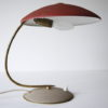 Vintage 1950s Red Brass Desk Lamp 1