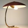 Vintage 1950s Red Brass Desk Lamp 4
