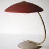 Vintage 1950s Red Brass Desk Lamp 5