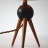 Vintage Teak Tripod Lamp 1