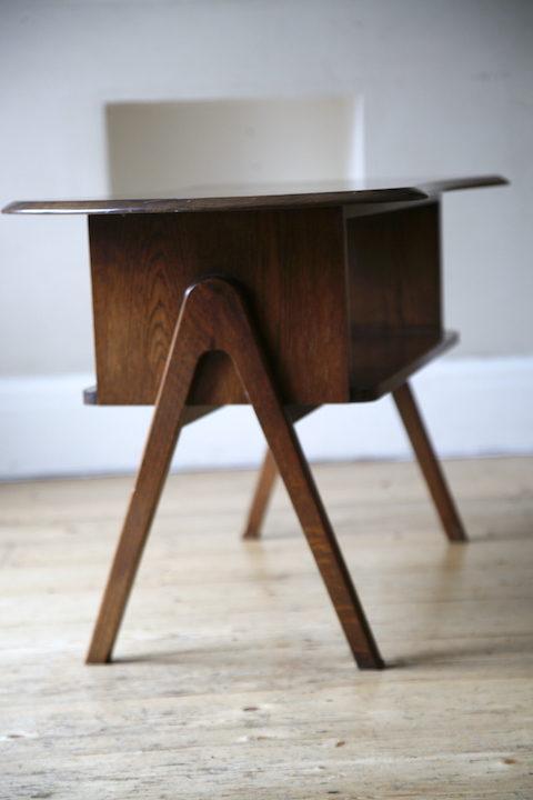 1950s Oak Coffee Table 4