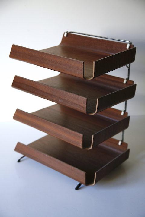 1960s Teak Desk Trays 1