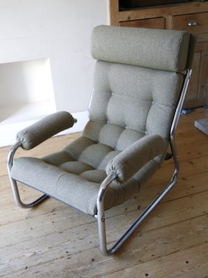 1970s Chrome Armchair