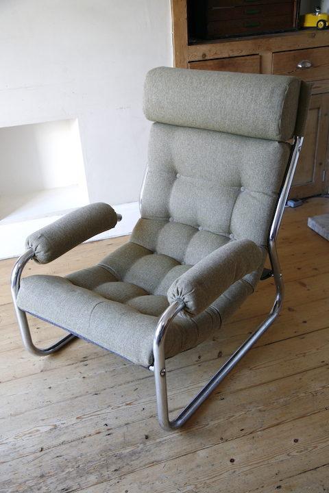 1970s Chrome Armchair