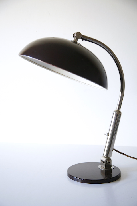 Model 144 Desk Lamp By H Busquet For Hala Zeist Cream And Chrome