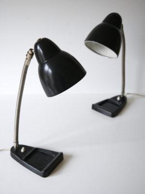 Pair 1940s Dutch Desk Lamps 2