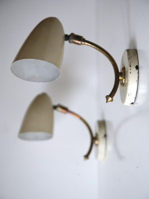 Pair 1950s French Wall Lights