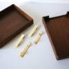 Vintage Teak Filing Trays 1