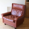 1960s Leather Chair by AB Nili Stoppmöbler Sweden 2