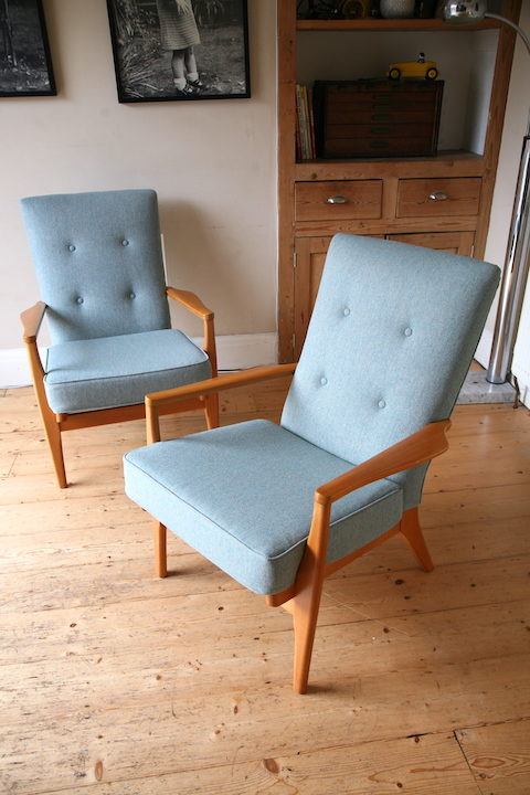 Pair of 1950s Parker Knoll Armchairs 1