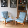 Pair of 1950s Parker Knoll Armchairs