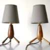 Pair 1950s Wooden Lamps 5