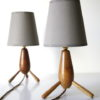 Pair 1950s Wooden Lamps 6