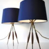 Pair 1960s Tripod Table Lamps 6