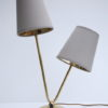 1950s Brass Double Table Lamp 1