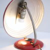 1950s Red Desk Lamp by Helo 1