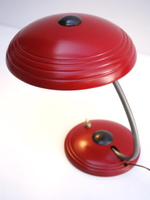 1950s Red Desk Lamp by Helo 5