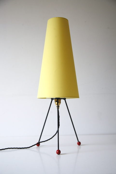1950s Atomic Tripod Table Lamp