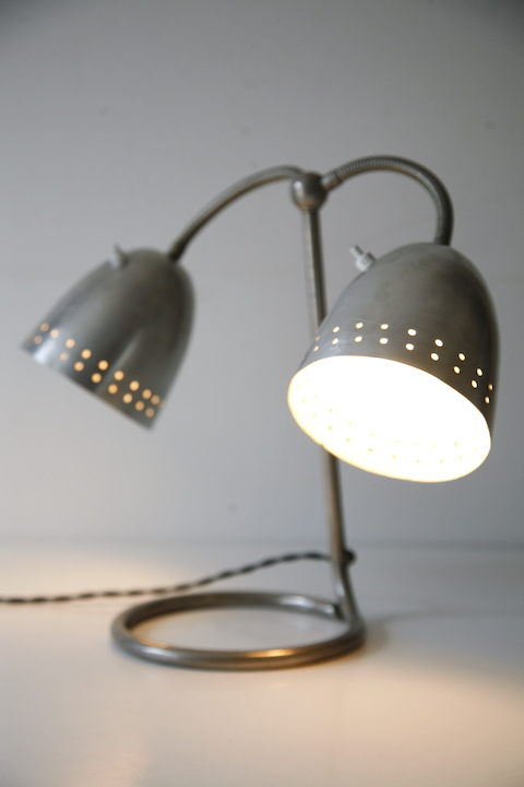 1950s Double Desk Lamp by Helo 6