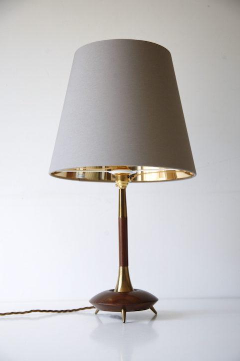 Teak Brass 1960s Table Lamp 2