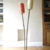 1950s Double Orange Yellow Floor Lamp 1
