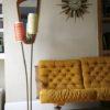 1950s Double Orange Yellow Floor Lamp 4