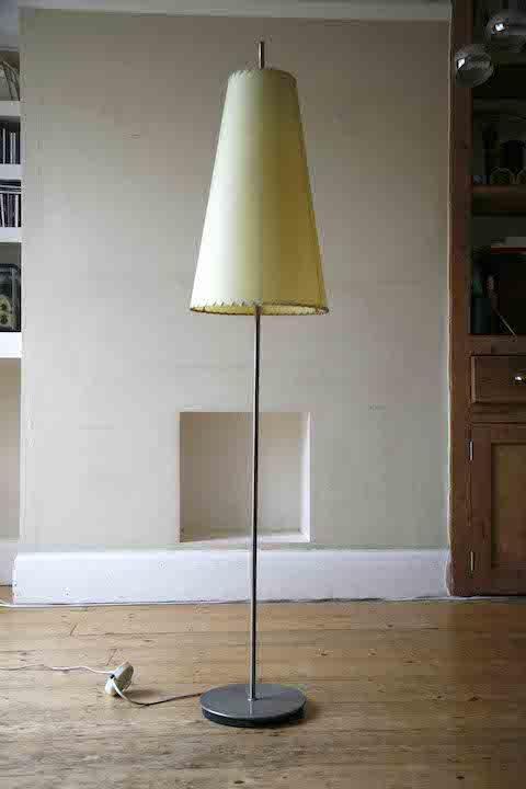 1950s Floor Lamp Cream Shade 4