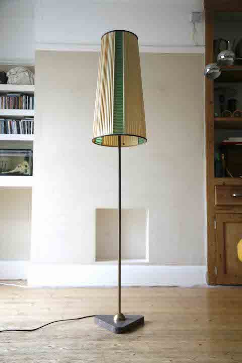 1950s Floor Lamp with Marble Base