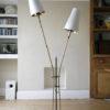1950s French Double Floor Lamp
