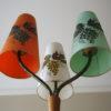 1950s Oak Triple Floor Lamp 1