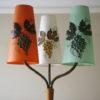 1950s Oak Triple Floor Lamp