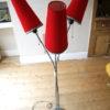 1950s Triple Red Floor Lamp 1