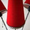 1950s Triple Red Floor Lamp 2