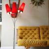1950s Triple Red Floor Lamp 4