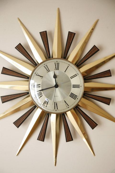1960s Sunburst Metamec Clock