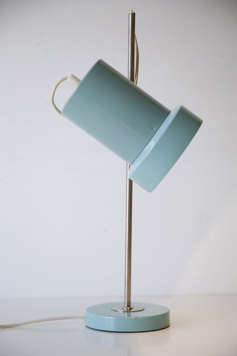 1960s Turquoise Desk Lamp 1