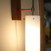 Glass Teak 1960s Wall Light