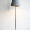 1950s Floor Lamp Grey & Red Shade 1