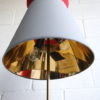 1950s Floor Lamp Grey & Red Shade 4