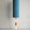1960s Glass Floor Lamp Blue Shade 5