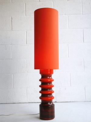1960s West German Orange Floor Lamp 4