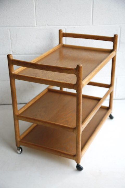 Danish Oak Serving Trolley Johannes Andersen for Silkeborg 1