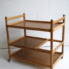 Danish Oak Serving Trolley Johannes Andersen for Silkeborg 3