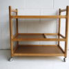 Danish Oak Serving Trolley Johannes Andersen for Silkeborg 4