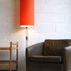 Large 1960s Orange Floor Lamp