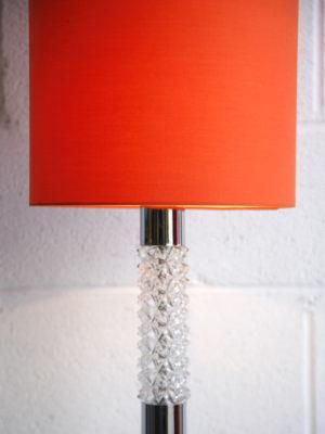 Large 1960s Orange Floor Lamp 2