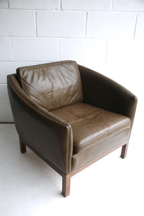 1960s Danish Leather Chair 1