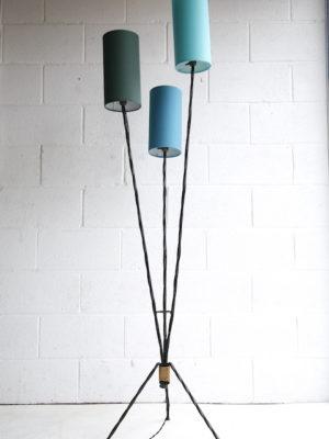 1950s Blue Triple Floor Lamp