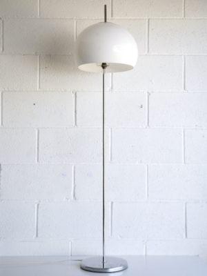 1970s Chrome Mushroom Floor Lamp 1